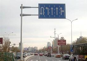 交通单悬臂标志杆